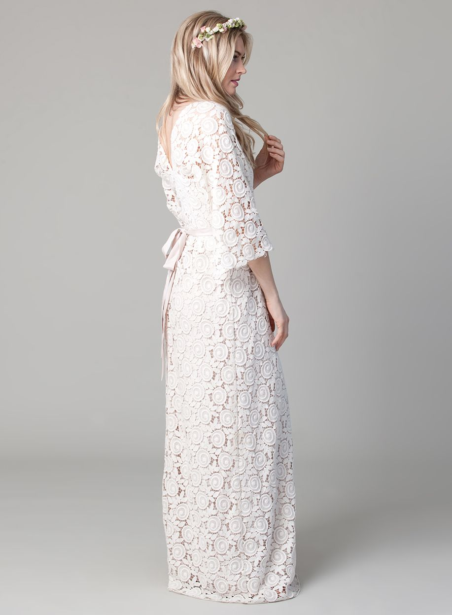 For all you bohochic brides this beautiful crocheted lace wedding