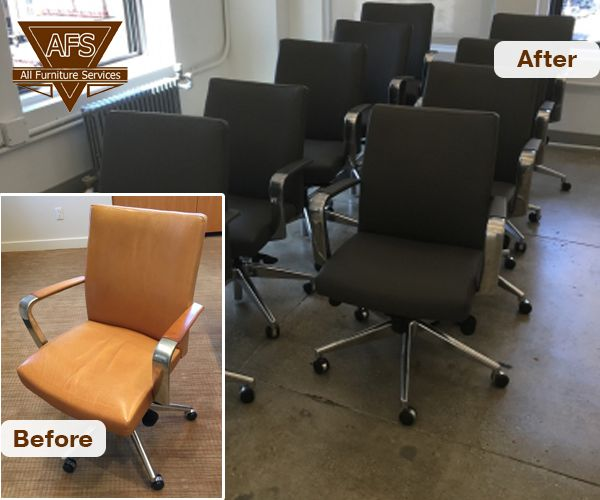 Office Chair Reupholstery Service, Furniture Repair Ct