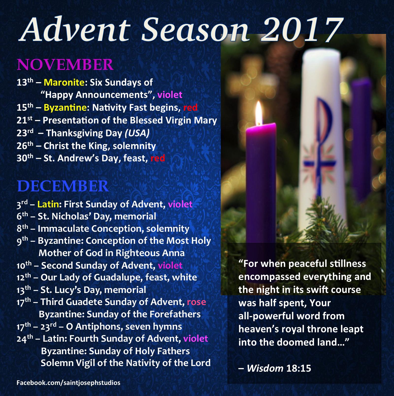 Advent Season 2017 Advent catholic, Advent prayers