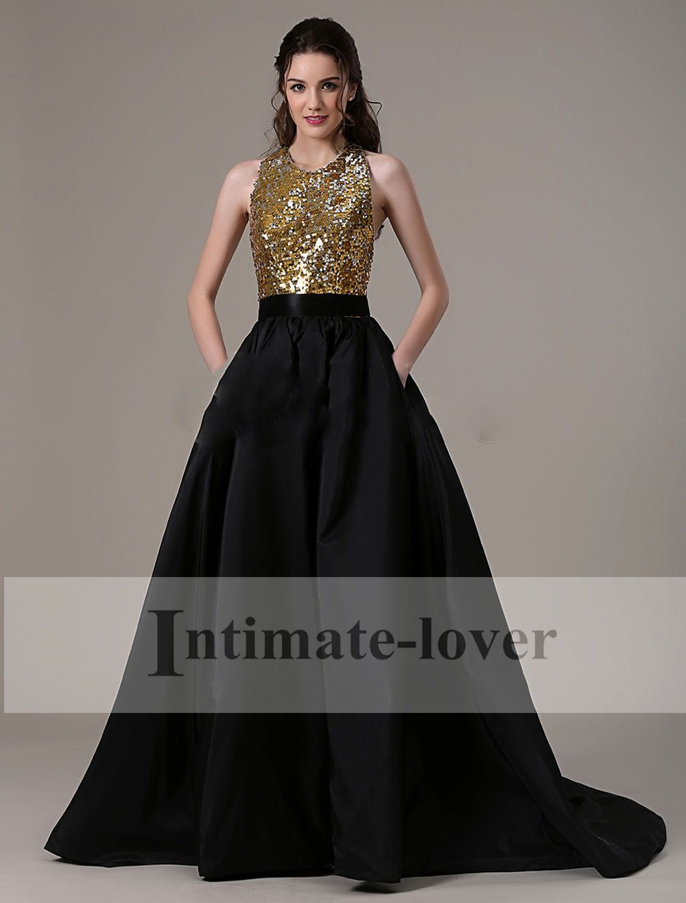 Full Length Maxi Long Black Prom Ball Party Gowns Evening Women