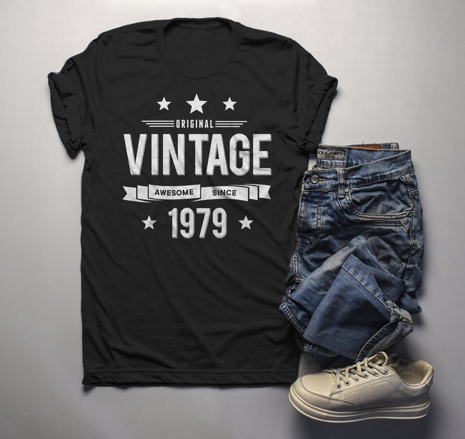 73bd48a03 Men's 40th Birthday T Shirt Original Vintage Shirt Awesome Since 1979 Gift  Idea 40th Birthday Shirts Vintage Tee Vintage Shirt