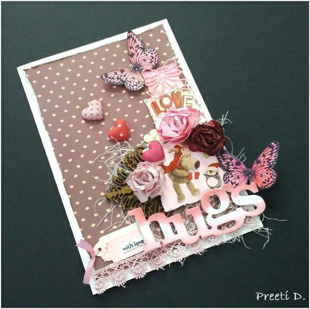 Card made using products from Itsy Bitsy.