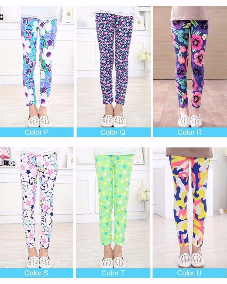 894c9796dfa8d New Baby Kids Childrens Printing Flower Toddler Classic Leggings Girls  Pants Girls Legging 2-14Y Baby Girl Leggings