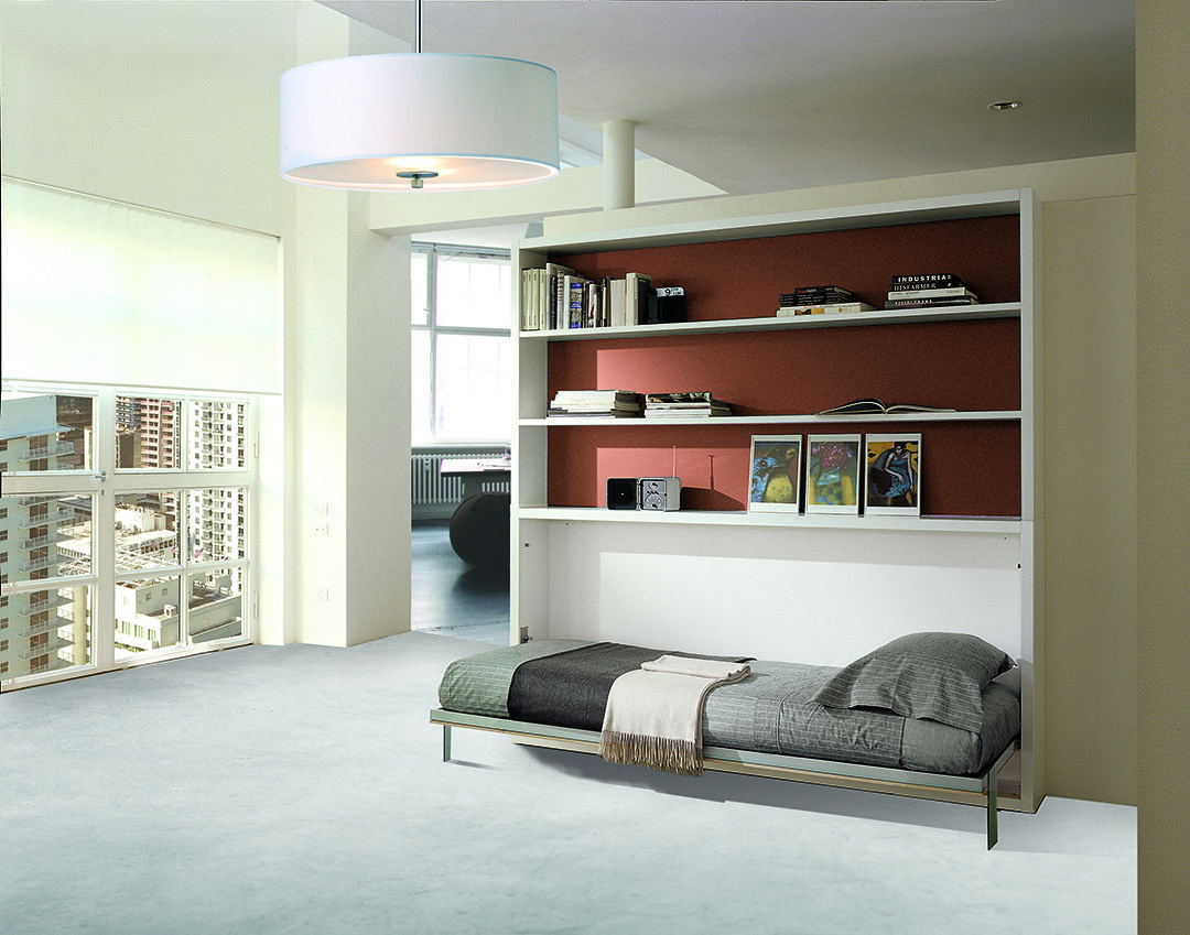 Poppi Book Wall Bed With Bookcase Resource Furniture