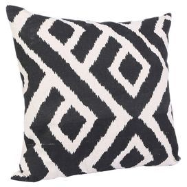 Add a retro feel to your master bed or sofa with this cushion featuring a diamond print. Scatter several to create a cosy place to relax, or display alone for an attractive feature.   Product: CushionConstruction Material: 100% PolyesterColour: Black and ivoryFeatures: Insert includedDimensions: 45 cm x 45 cmCleaning and Care: Professional cleaning only