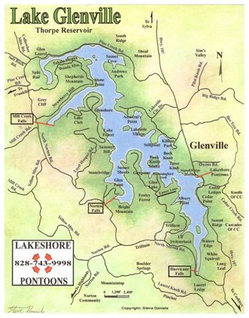 lake glenville nc map Kayaks On Lake Glenville Nc Glenville Kayak Trip Lake lake glenville nc map