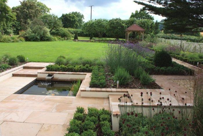 wasserfall im garten klein schlicht gartenideen Garten - gartenideen