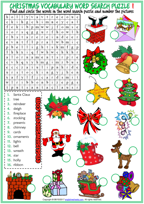 christmas word search puzzle esl printable worksheets esl christmas christmas word search. Black Bedroom Furniture Sets. Home Design Ideas