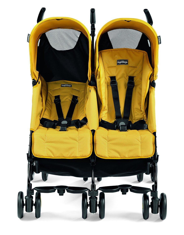 Peg Perego Pliko Mini Twin Double Stroller Mod Yellow