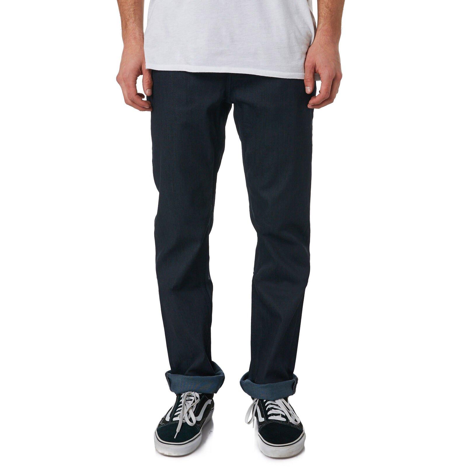Volcom Solver Denim Jeans Coated Indigo