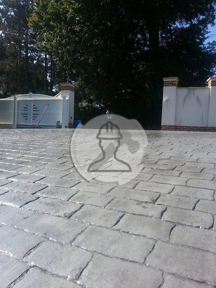 béton imprimé creme Terrasse Pinterest Concrete and Construction - beton decoratif pour terrasse
