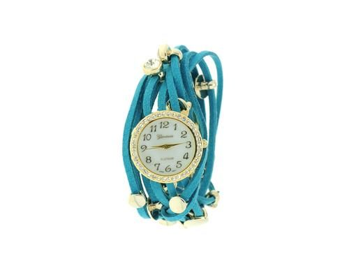 Turquoise Studded Leather Wrap Watch $22.00