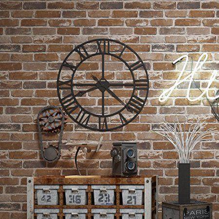Flat Faux Brick Stone Wallpaper Roll 3d Effect Blocks Vintage Home Decoration Brown Walmart Com In 2020 Brick Wallpaper Brick Wallpaper Roll Faux Brick