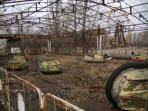 Scooby Doo made an entire series out of the idea of spooky abandoned amusement parks. This park near the Chernobyl disaster was abandoned before it sever opened.