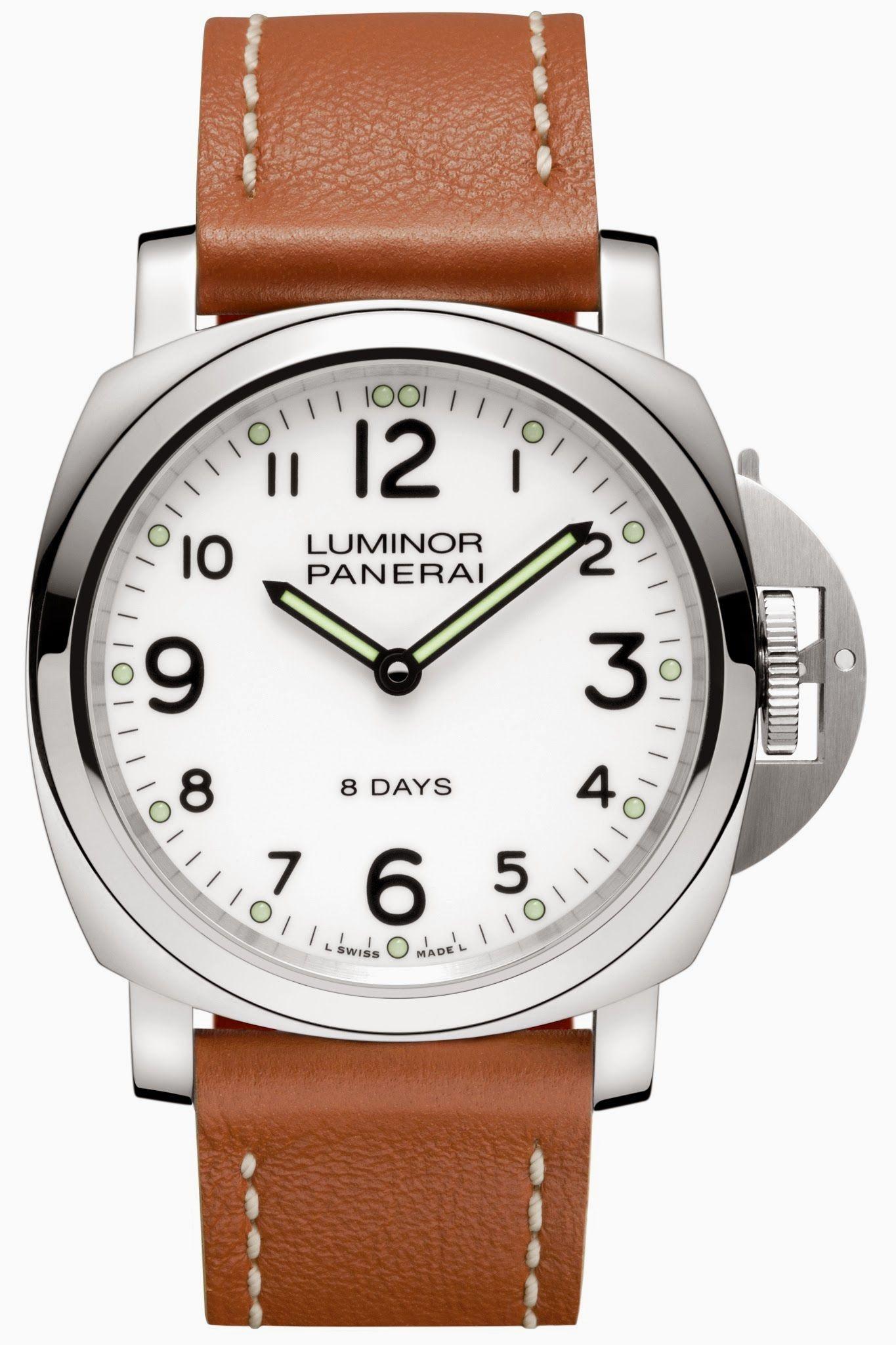 8a6abe7655 Panerai PAM 561 Luminor Base 8 Days Acciaio 44mm (White Dial) (List Price:  HK$53,900). Discount at HK$39,999.