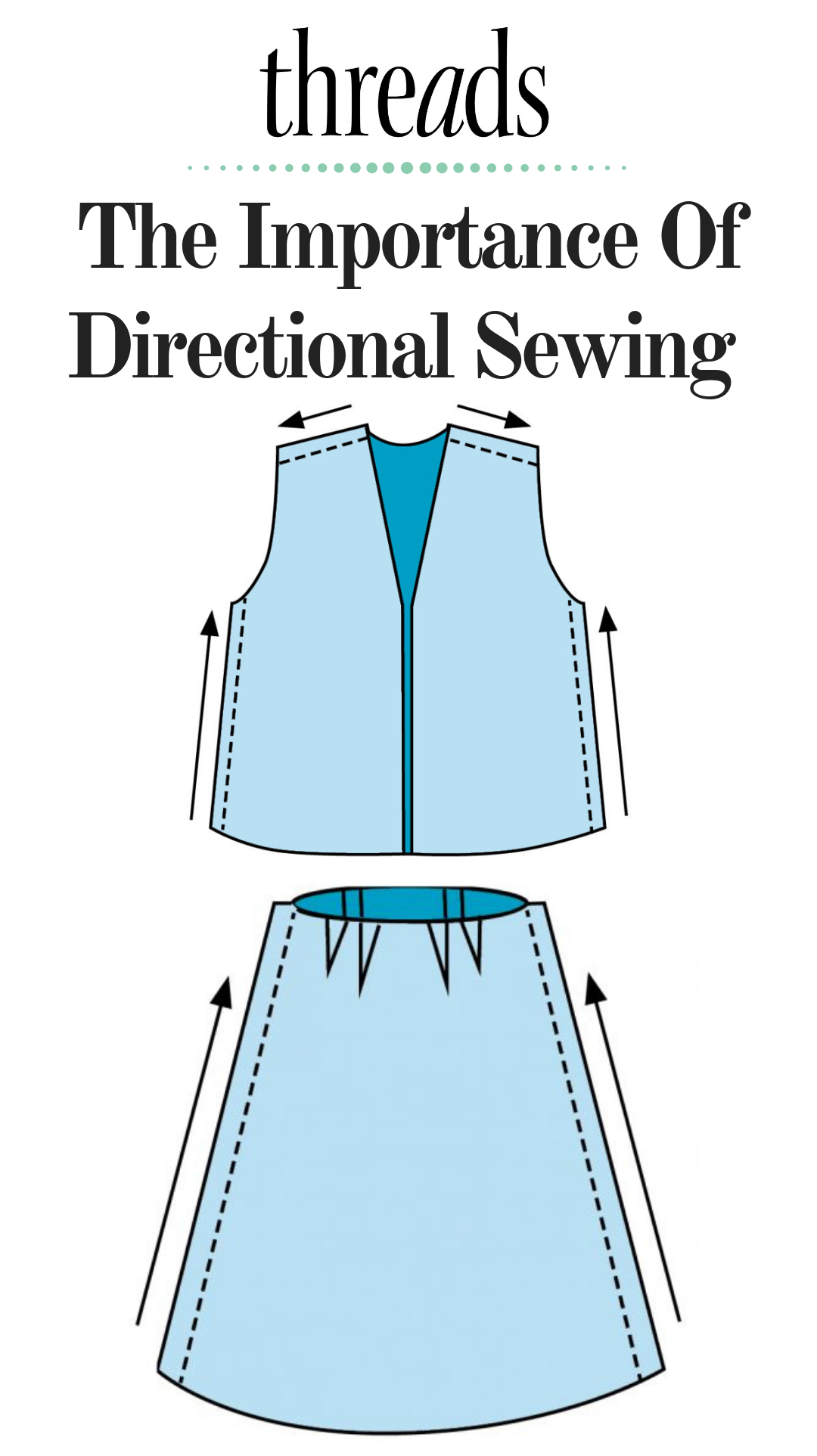 Sewing Tip: How and Why to Sew Directionally