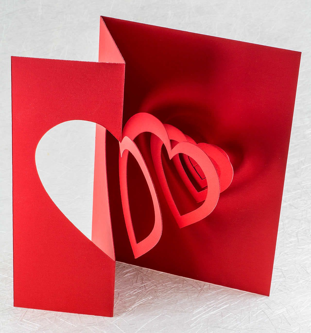 This Deep Red Spiraling Heart Pop Up Card Is The Perfect Elegant Valentine S Day Card For Your P Heart Pop Up Card Pop Up Valentine Cards Diy Valentines Cards