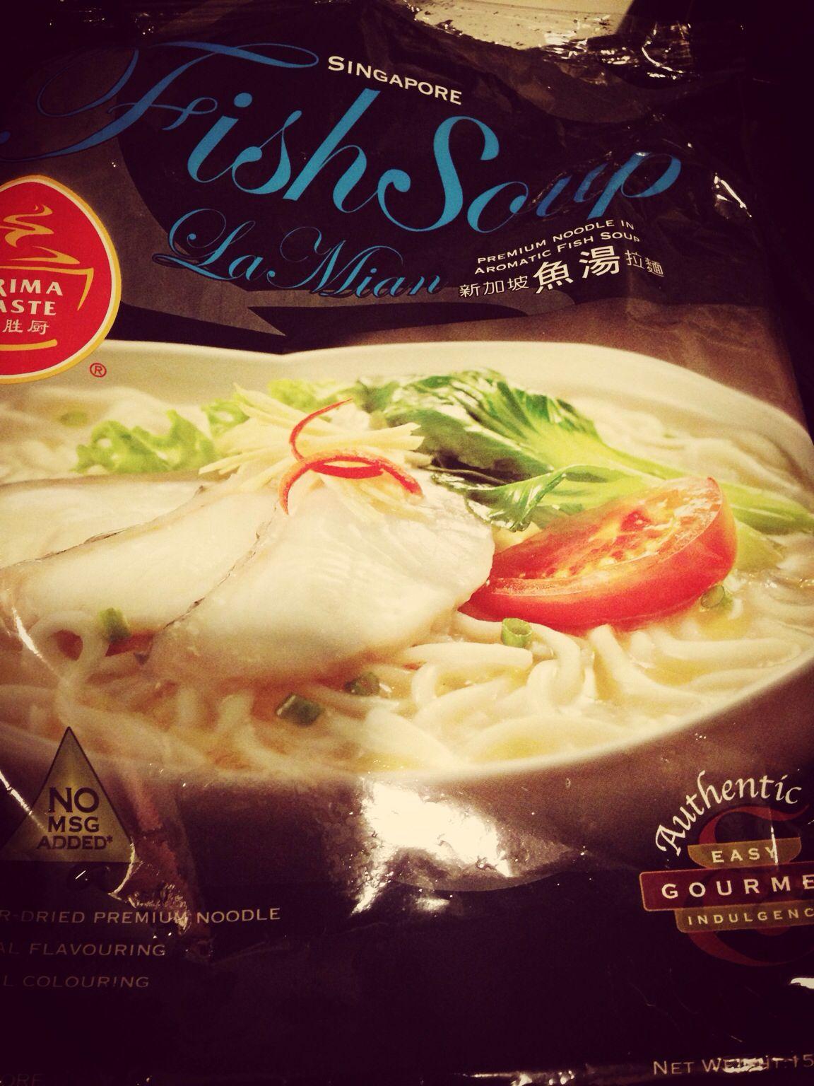 Prima nonflied noodle w/fish soup Noodles lover, Fish