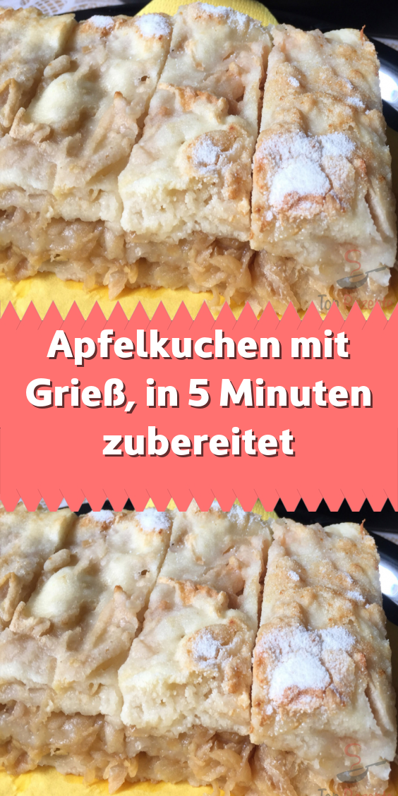 Photo of Apple pie with semolina prepared in 5 minutes