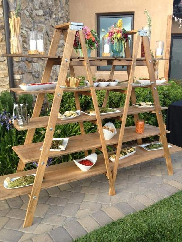 Upcycled Ladder Shelves And Creative Display Ideas Upcycle