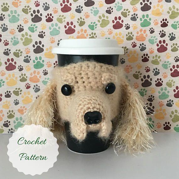 Dog Crochet Pattern  Mug Cozy Pattern  Amigurumi Patterns