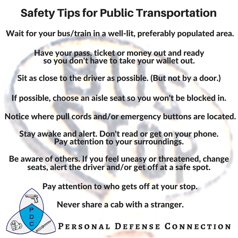 Do you take public transportation? These safety tips might help you ...