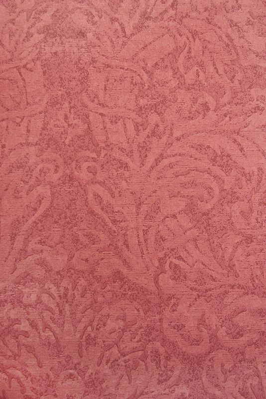 Faded Damask Wallpaper Faded Damask Wallpaper in In rich red.