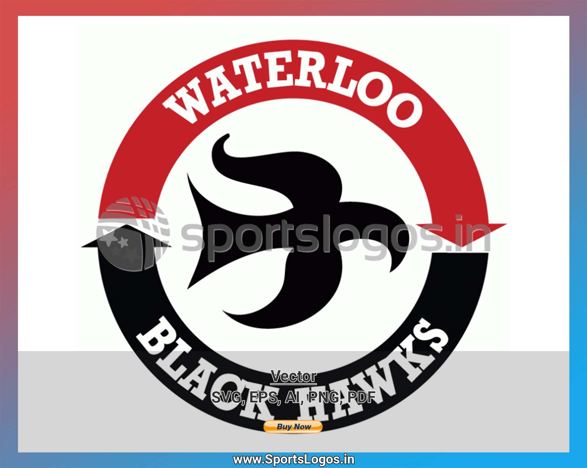 Waterloo Black Hawks Hockey Sports Vector Svg Logo In 5 Formats Spln004805 Sports Logos Embroidery Vector For Nfl Nba Nhl Mlb Milb And More In 2020 Sport Hockey Embroidery Logo Hockey