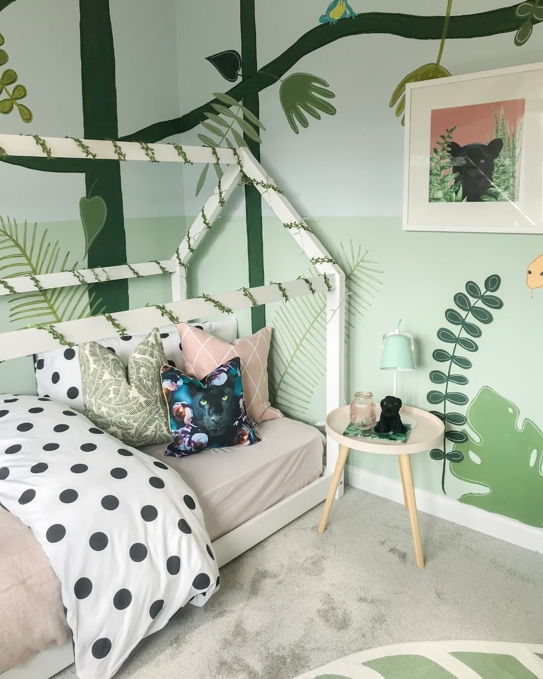 Botanical Jungle Inspired New Build Kids Bedroom With Scandi Bed