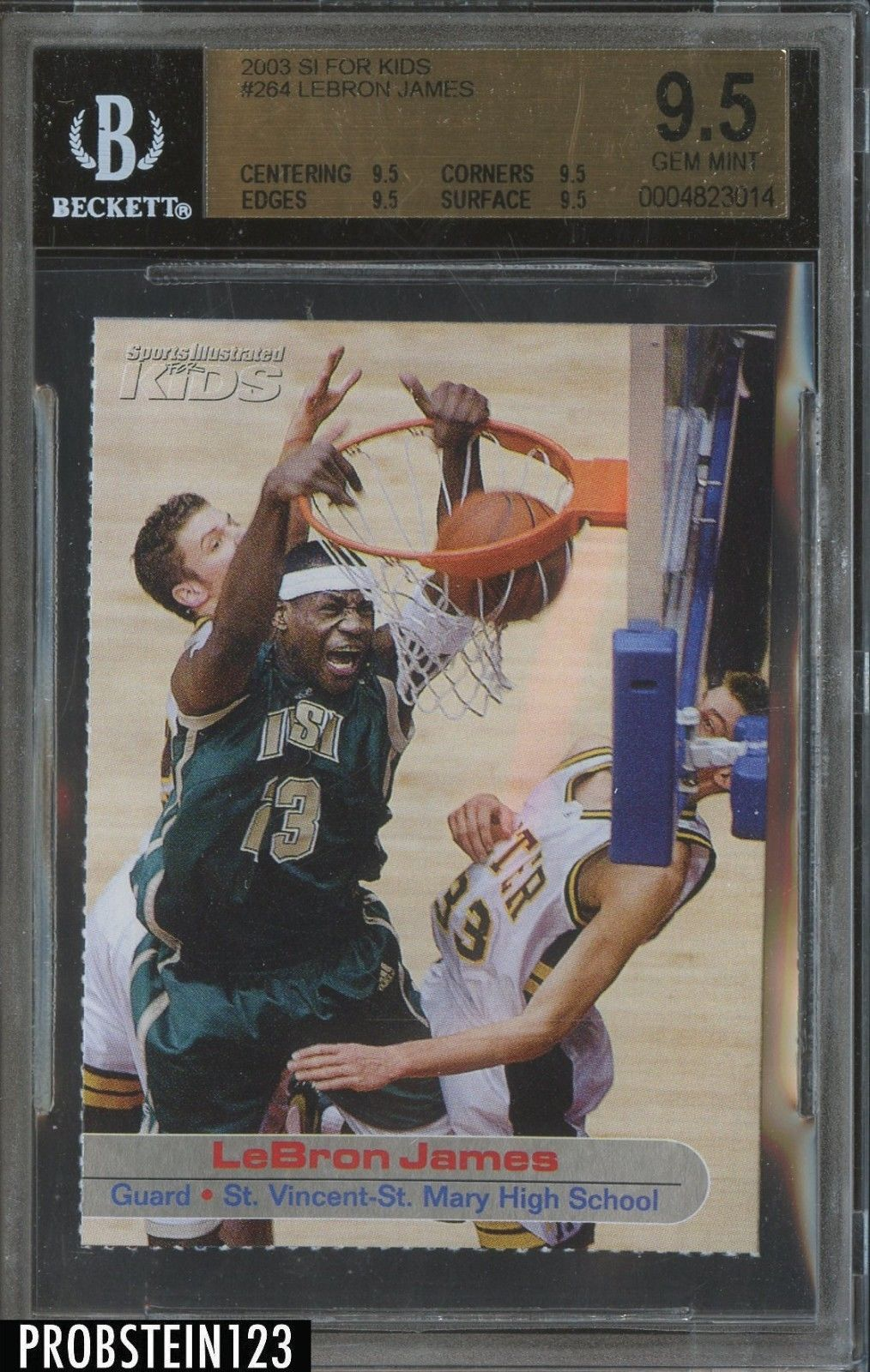 200304 si for kids 264 lebron james rc rookie bgs 95