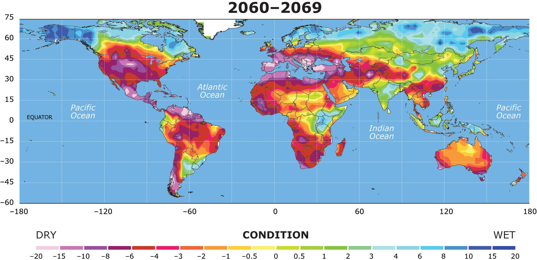 DUSTBOWLIFICATION Dustbowlification And Its Impact On Food - Map after global warming
