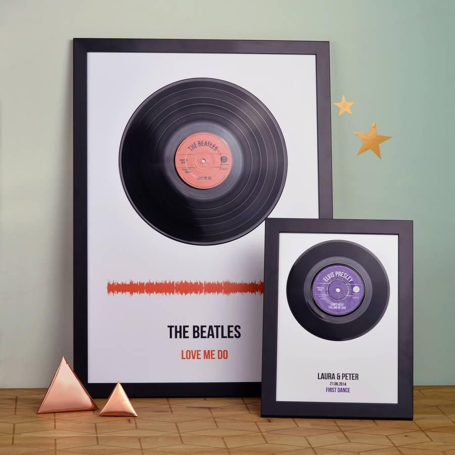 This Makes A Lovely Gift When Personalised With A Special Song It Works Very Well For Valentine 39 S Day Ann Framed Records Vinyl Record Frame Vinyl Records