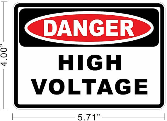 Danger High Voltage Electric Warning Safety Business By Nyeplus 5 99 High Voltage Signs Dangerous