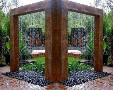 51 Simple and Seren DIY Water Feature Ideas to Get a Peaceful Sound of Falling Waterfall #waterfeatures
