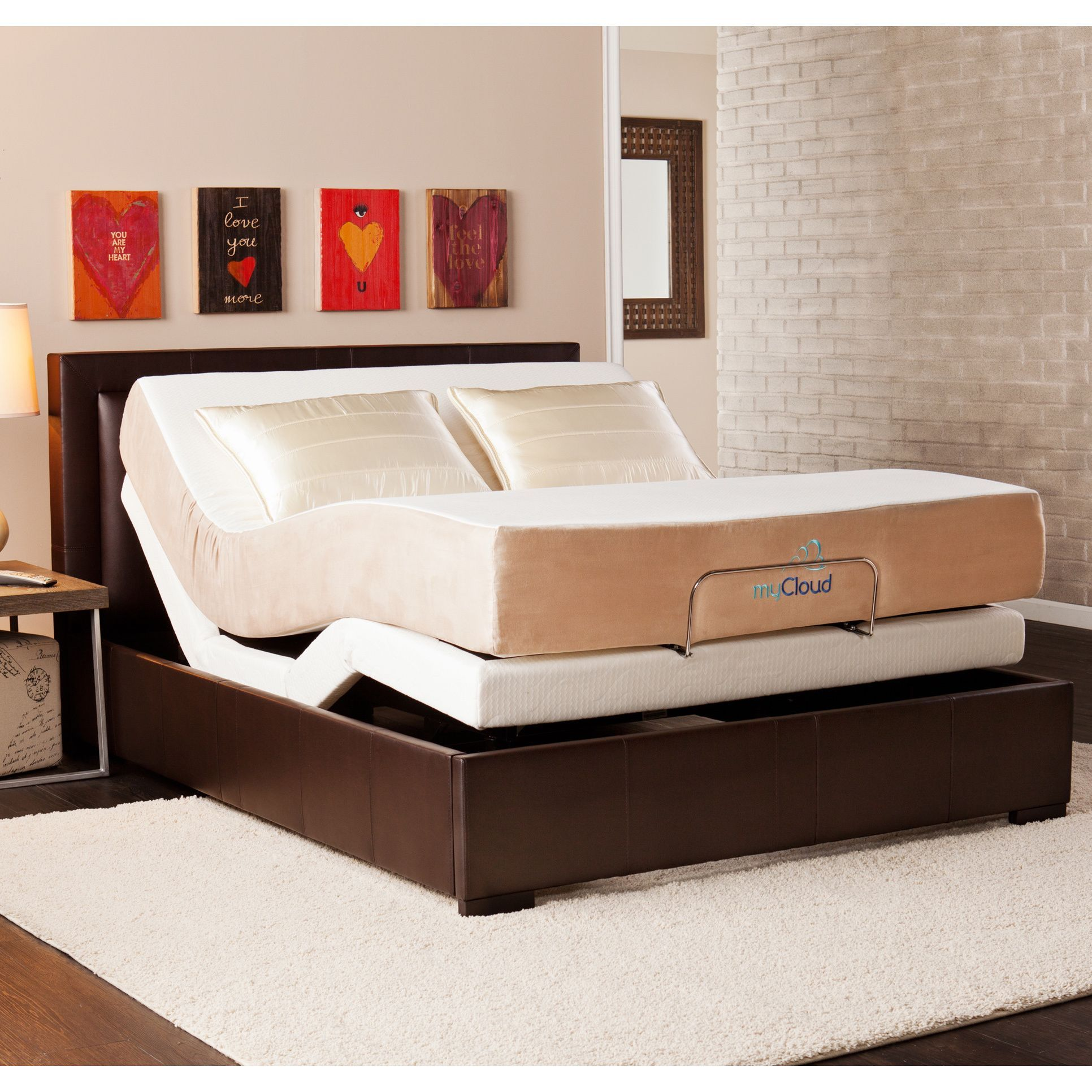 myCloud Adjustable Bed Queensize with 10inch Gel Infused
