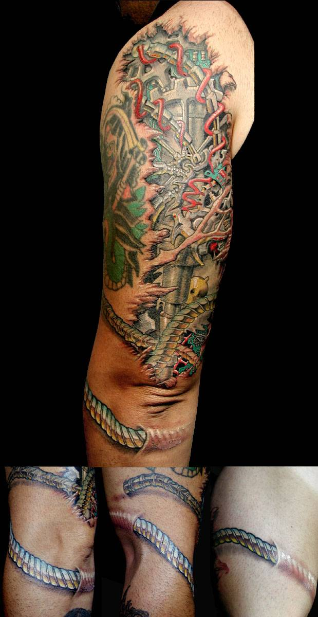 Biomech arm with cables Biomechanical tattoo, Tattoos