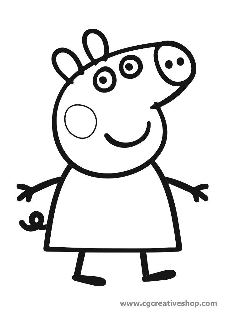 Peppa pig disegno da colorare george pinterest for Peppa pig da stampare