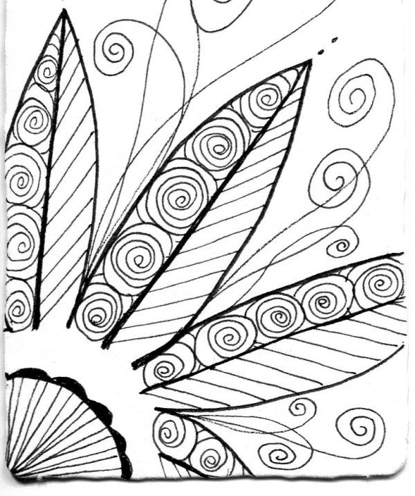 Black & White ATCs | Easy zentangle patterns, Easy ...