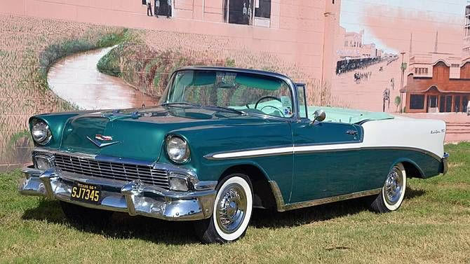1956 Chevrolet Bel Air Convertible Sherwood Green And India