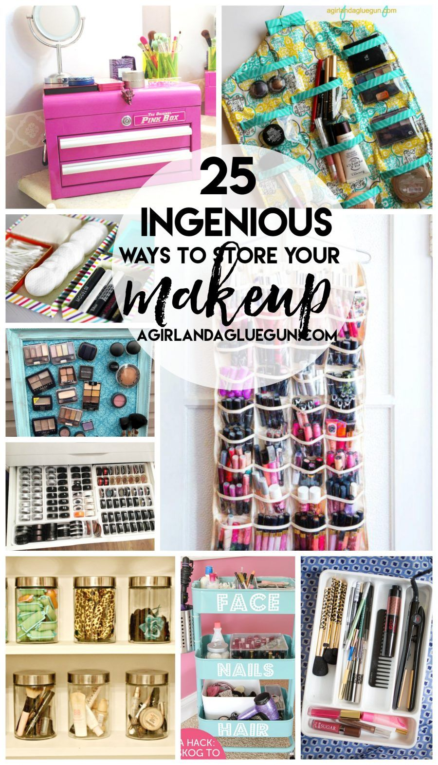 let's get organizedmakeup Makeup storage organization