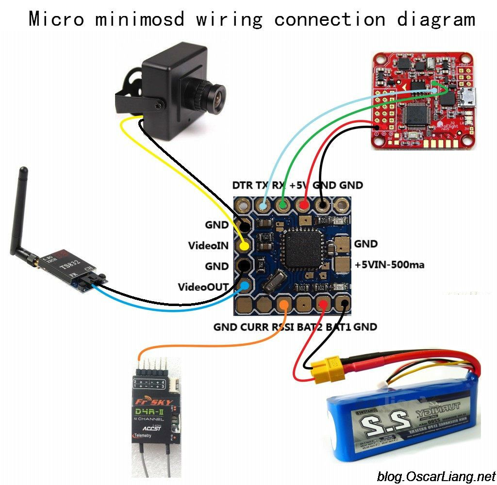 Micro Minimosd Wiring Connection Diagram Diy Drone Electronic Circuit Projects Micro Drone