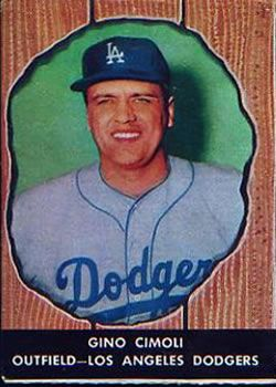 1958 Hires Root Beer 63 Gino Cimoli Front 1958 Baseball