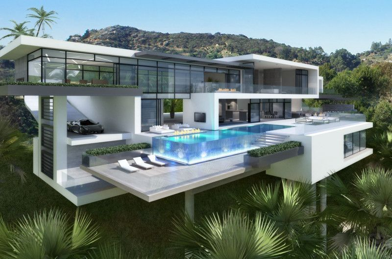 Contemporary Mansions On Sunset Plaza Drive La Big Modern Houses Modern Mansion Modern House Plans