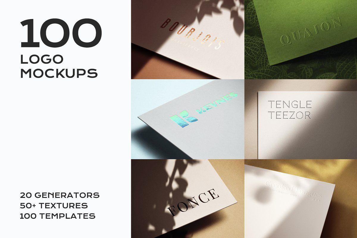 100 Logo Mockup Branding Bundle Logo Mockup Branding Mockups Logo Presentation