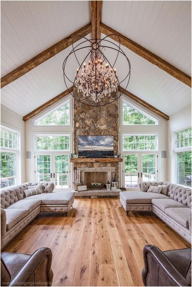French Country Living Room 13 Vaulted Ceiling Living Room Farm House Living Room Living Room Decor Country