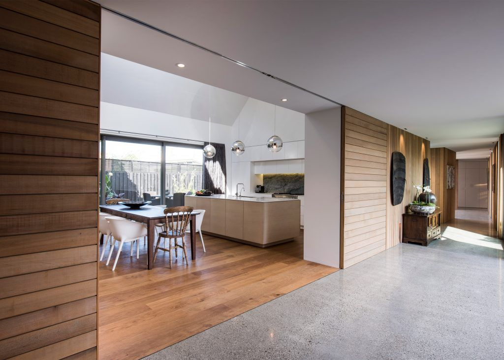 Contemporary interior in residence in Christchurch, New Zealand.