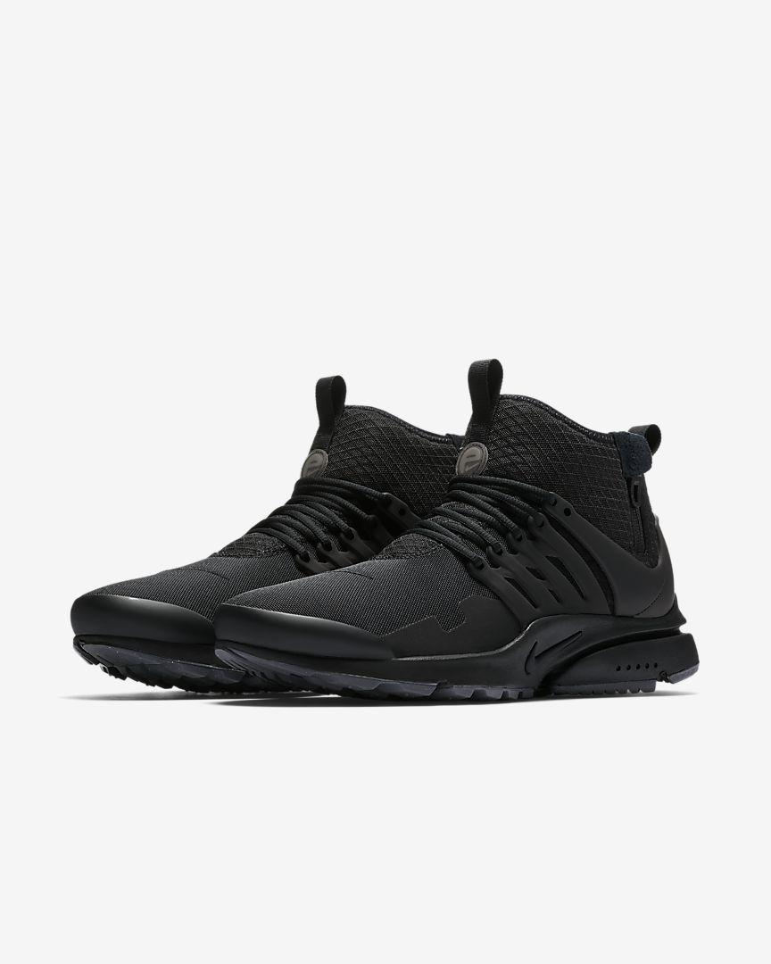 curva Sinceramente Metro  Nike Air Presto Mid Utility Men's Shoe   Nike air presto, All black  sneakers, Sneakers nike