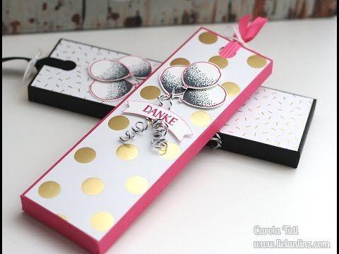 Anleitung Schokoladenziehverpackung Box Fur Schokolade Stampin Up Geschenke Aufpragungen Schachtel Basteln