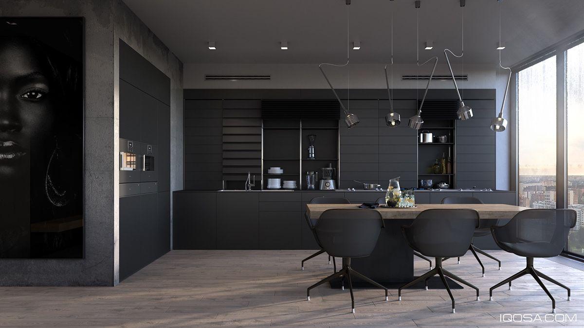 Keuken Zwart Stoere : Een zwarte keuken stoer mannelijk en bijzonder stijlvol man