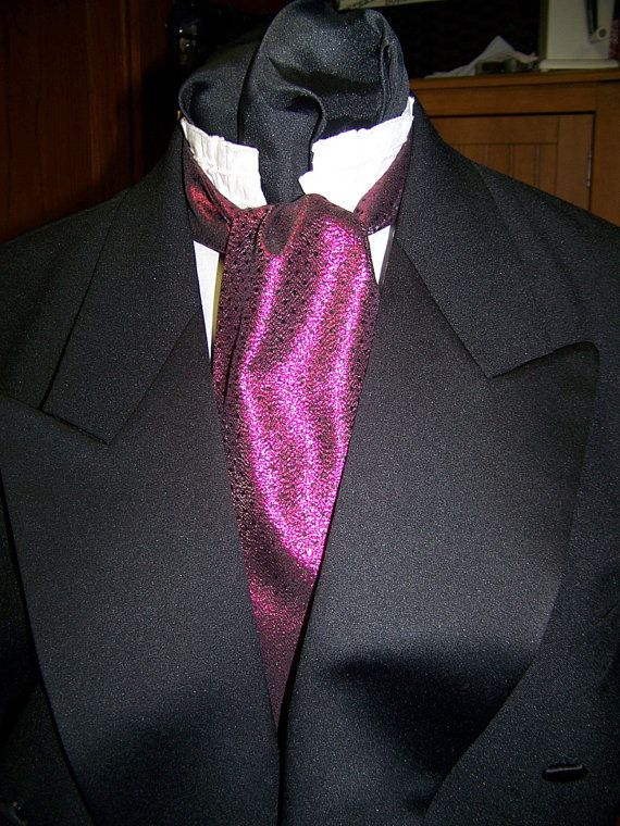 SALE Ascot or Carvat Black and Fuchisa lemay by civilwarlady